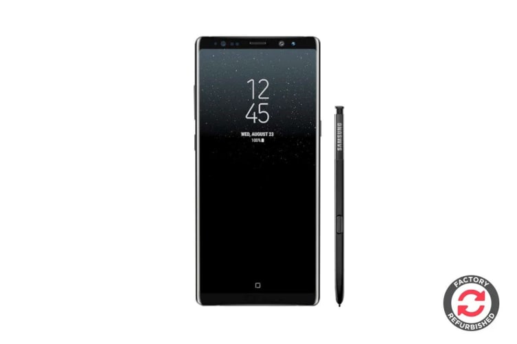 Samsung Galaxy Note8 Refurbished (64GB, Midnight Black) - A+ Grade