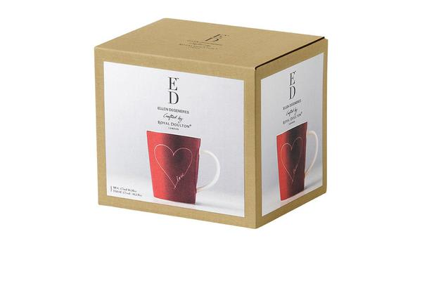 Royal Doulton Ellen DeGeneres Mug 475ml Red Heart