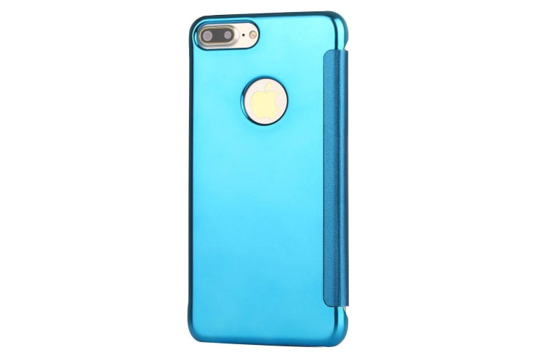For iPhone 8 PLUS 7 PLUS Case Elegant Electroplating Mirror Shielding Cover Blue