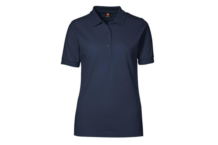 ID Womens/Ladies Pro Wear Short Sleeve Regular Fitting Classic Polo Shirt (Navy) (L)