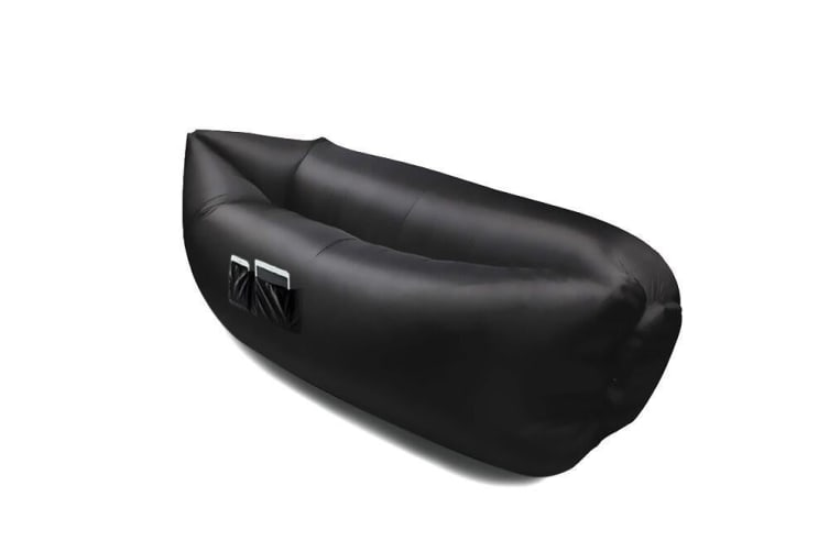 Inflatable Swimming Pool Air Bag Sofa Lounge Sleeping Bags Bed Beach Couch Black
