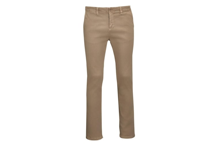 SOLS Mens Jules Chino Trousers (Chestnut) (46L)