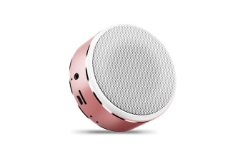 Mini Bluetooth Speaker Intelligent Portable Bass Cannon Wireless Speaker Rose Gold