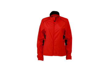 James and Nicholson Womens/Ladies Performance Jacket (Tomato Red/Black) (XL)