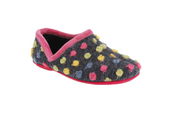 Sleepers Womens/Ladies Jade Dotted Full Slippers (Fuchsia/Multi)