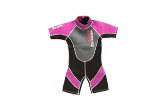 "28"" Chest Childs Shortie Wetsuit in Pink"