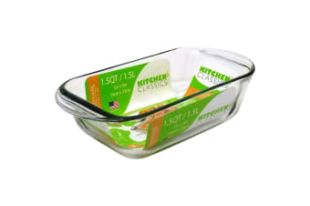 Kitchen Classics Glass Loaf Pan - 1.5 Litre