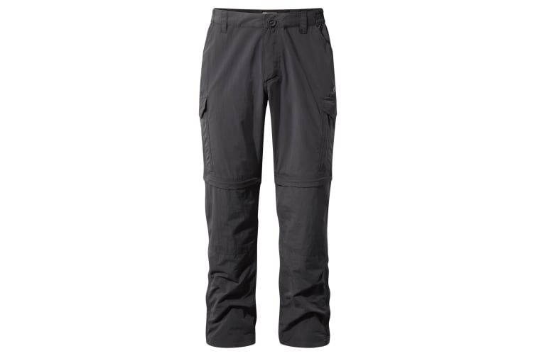 Craghoppers Mens NosiLife Convertible II Trousers (Black Pepper) (32S)