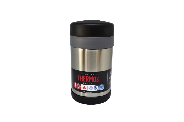 Thermos 470ml Food Jar With Spoon - Silver