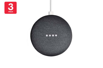 Google Nest Mini (Charcoal) - AU/NZ Model - 3 Pack