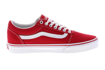Vans Men's Ward Canvas Racing Shoe (Red/True White, Size 10.5 US)