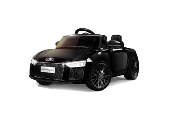 LICENSED AUDI R8 Kids Ride On Car Toy Spyder Electric Remote Control Black 12V