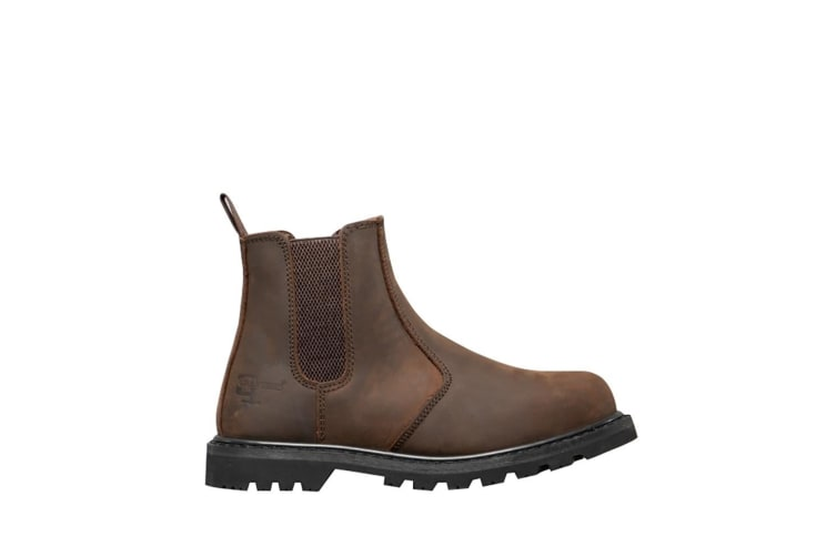 Grafters Mens Safety Chelsea Boots (Brown) (12 UK)