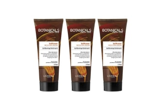 3x Loreal 100ml Botanicals Safflower Rich Infusion Softening Ointment f/Dry Hair