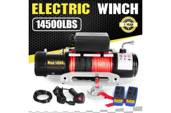ATEM POWER 14500LBS 12V Electric Winch Synthetic Rope Wireless Remote 12000lb ATV 4WD Truck
