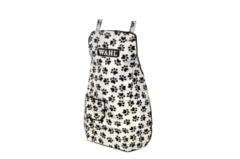 Wahl Paw Print Pet Grooming Apron (White/Black) (One Size)