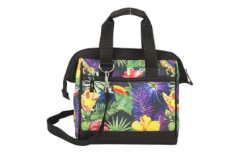 Avanti Girls Women Insulated Lunch Bag w Separate Zip Section Leakproof Tropical