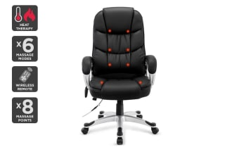 Ergolux 8 Point Heated Vibrating Massage Office Chair