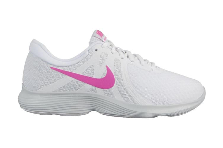 Nike Women's Revolution 4 Running Shoe (White/Platinum, Size 9.5 US)