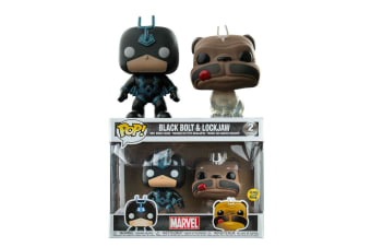 Inhumans Black Bolt Glow & Lockjaw Phasing US Pop! 2 Pk