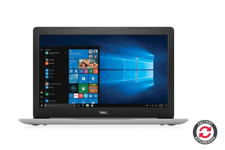 """Dell Inspiron 15 5570 15.6"""" Touch Screen Laptop (i5-8250U, 12GB RAM, 1TB, Silver) - Certified Refurbished"""