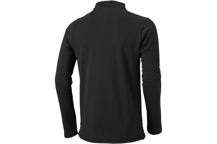 Elevate Mens Oakville Long Sleeve Polo Shirt (Anthracite) (M)