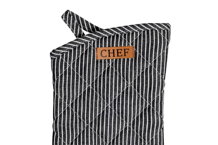 Ogilvies Designs Chef Stripe Oven Glove Navy
