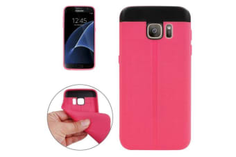 For Samsung Galaxy S7 Case  Dotted Extra Grippy Shielding Cover Magenta