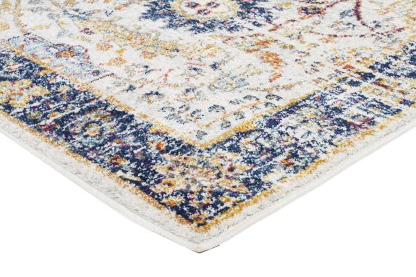 Peacock Ivory Transitional Rug 400x80cm