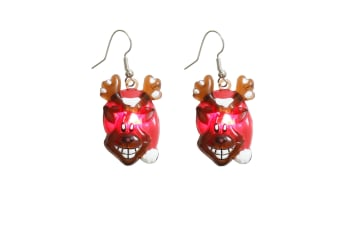 Christmas Shop Christmas Flashing Earrings (Rudolph)