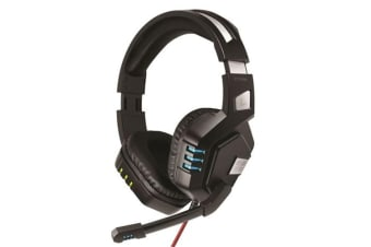 Promate PYTHON.BLK  High Performance Gaming     Headset with Microphone. Zero Fatigue Ear-Cushions.