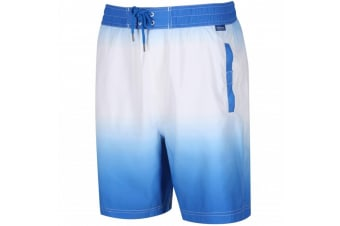 Regatta Great Outdoors Mens Hadden Board Shorts (Oxford Blue/White) (S)