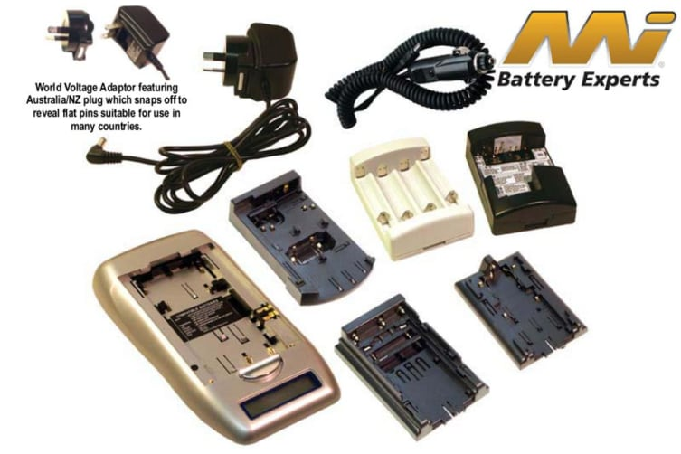 MI NiCDNiMH AA-AAA Digital Camera Battery Charger 12V DC Adaptor plate Analysers