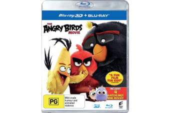 The Angry Birds Movie 3D Edition with 2D Edition Blu-ray Region B