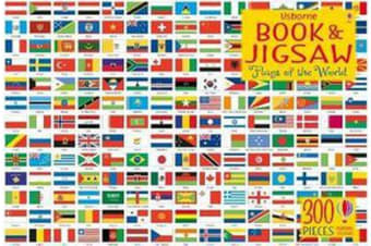 Usborne Book and Jigsaw - Flags of the World