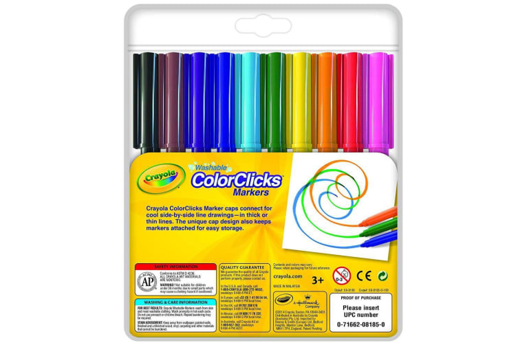Crayola Colour Clicks - 10 Washable Markers