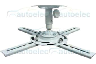 CEILING MOUNT PROJECTOR BRACKET BALL JOINT COMPACT WHITE HOME THEATRE LCD