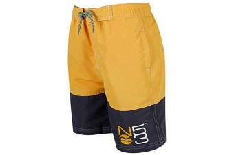 Regatta Great Outdoors Childrens Boys Shaul Swimming Shorts (Old Gold/Iron) (5-6 Years)