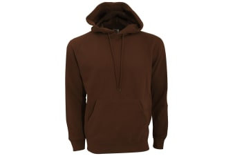 SG Mens Plain Hooded Sweatshirt Top / Hoodie (Brown)
