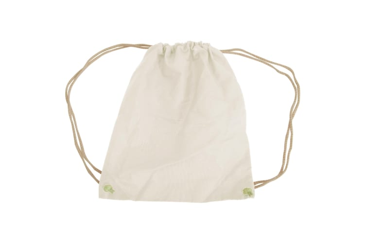 Westford Mill Cotton Gymsac Bag - 12 Litres (Pack of 2) (Natural) (One Size)