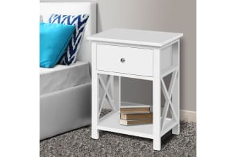Bedside Tables Drawers Side Table White Nightstand Storage Cabinet