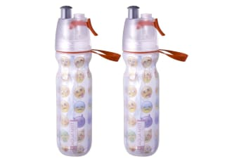 2PK Avanti RD BPA Free 550ml Cold Drink Water Bottle Mist Spray Insulated Sport