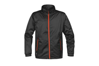 Stormtech Mens Axis Lightweight Shell Jacket (Waterproof And Breathable) (Black/Orange)