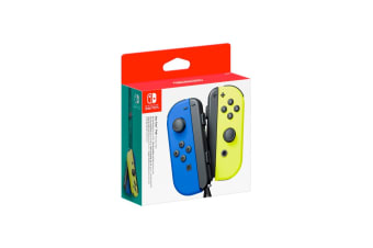 Nintendo Switch Joy Con Controller Pair - Blue and Neon Yellow
