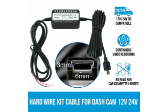 Elinz Hard Wire Kit Cable Charger for Car Dash Cam Parking Power Battery Drain Protected
