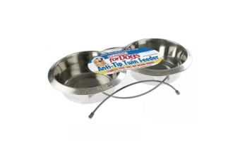 Classic Twin Feed Dishes (Silver)