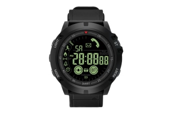 Intelligent Sports Bluetooth Multifunctional Electronic Watch Black Silver