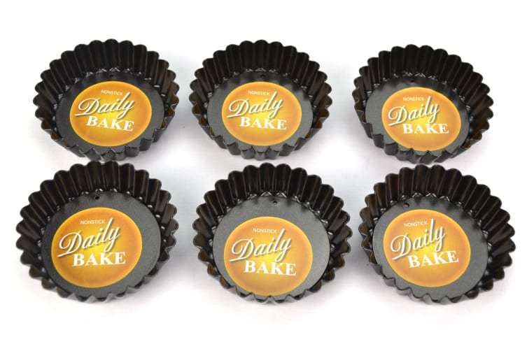 Individual Mini-quiche Pan With Loose Base 10cm X 2.5cm- Set Of 6