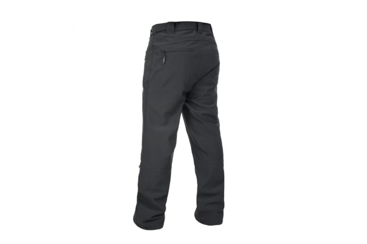 Trespass Mens Hemic Water Resistant Softshell Trousers (Black) (L)