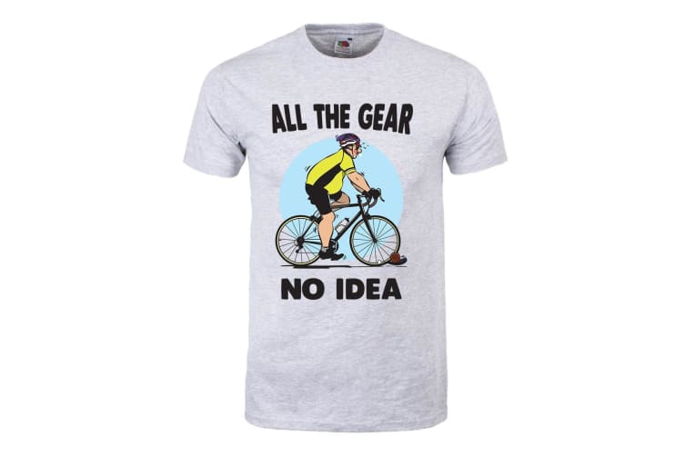 Grindstore Mens All The Gear No Idea T-Shirt (Grey) (XXL)
